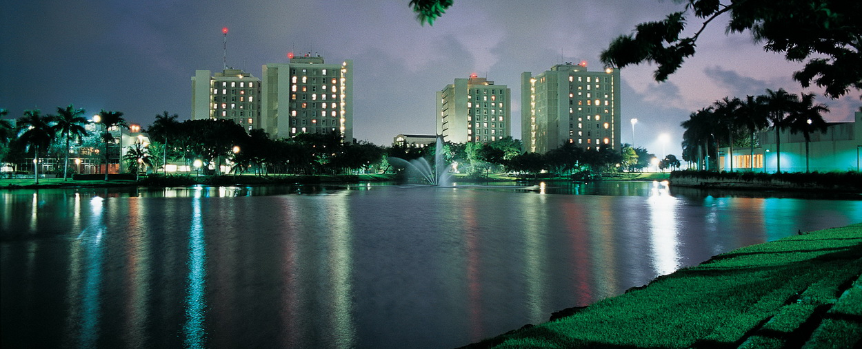 UM Gables night picture 1250 x 507